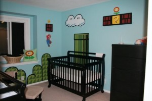 super-mario-theme-baby-room-decoration-game-design-ideas-with-black-wood-cradle-ideas